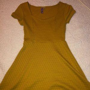 Francesca's Yellow Skater Dress